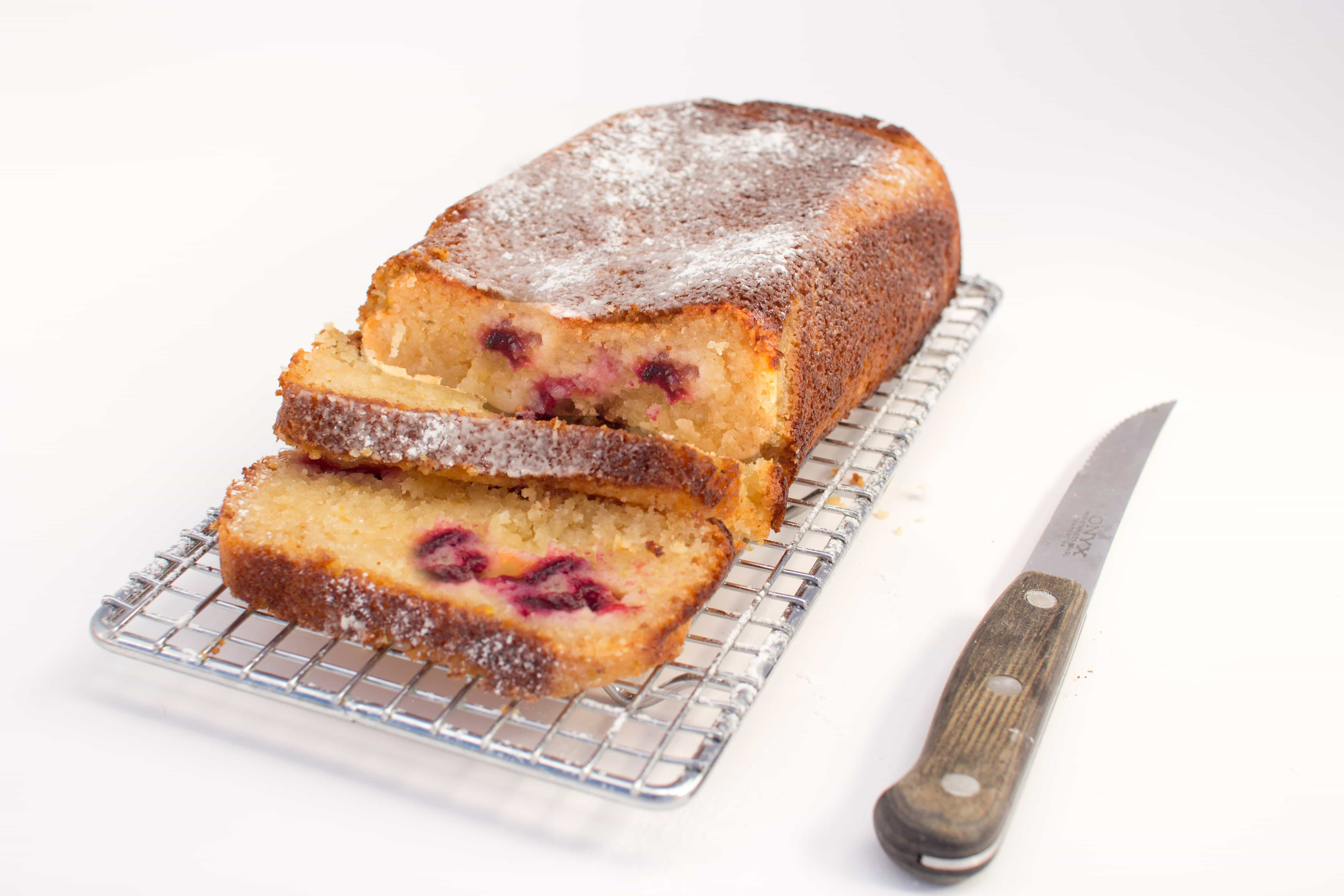 Plum and lemon loaf
