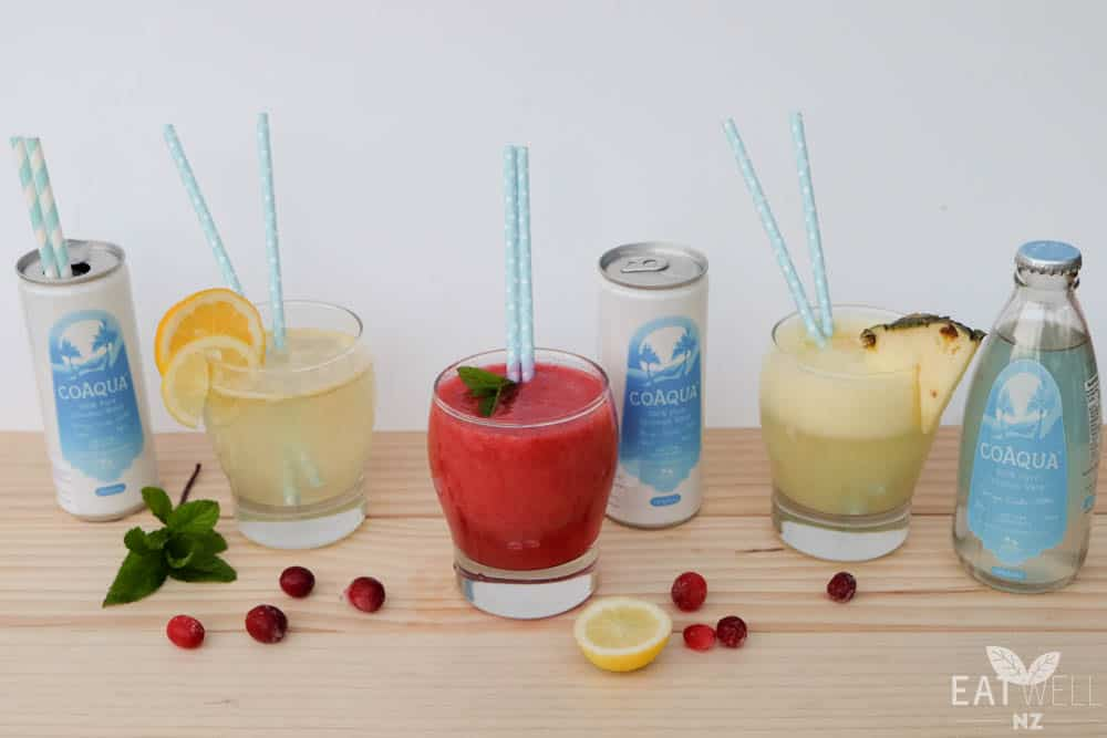 Nourishing smoothies and coconut water mocktails