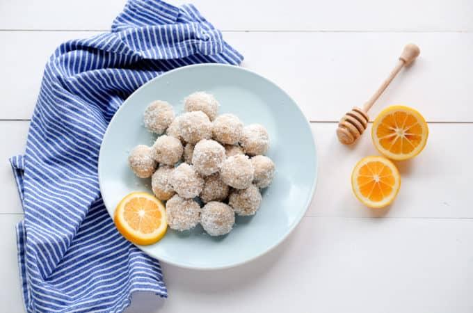 Lemon Coconut Bliss Balls (no dates!)